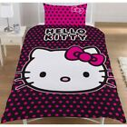Disney Character TV Girls Kids Childrens Single Duvet Quilt Cover Bedding Set