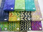 "More chevron curves mottled batik 100% cotton fabric flavor of India 1 yd x 44""w"