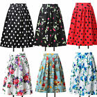 Occident Womens Vintage Skirt Rockabilly 50s Pinup Swing Housewife Midi Dresses