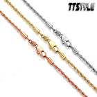 Tt 2mm Gold Filled Rope Chain Necklace Choose Colour Length 45-70cm (cf136)
