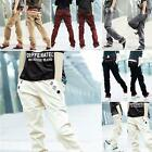 New Stylish Men Straight Design Jeans Slim Fit Trouser Casual Long Pants 8Colors