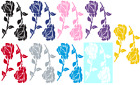 ROSES VINYL GRAPHIC CAR DECAL/STICKER - CHOICE OF 9 COLORS