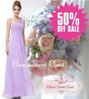 BNWT ELODIE Lilac Corsage Chiffon Maxi Prom Evening Bridesmaid Dress UK 6 -18