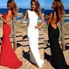 Women Long Formal Sleeveless Prom Backless Evening Party Bodycon Maxi Dress