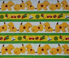 NOVELTY 100% cotton fabric cartoon & story dogs for kids & adults colorful panel