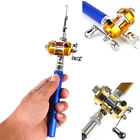 Mini Pocket Telescopic Aluminium Pen Shape Travel Fishing Rod Pole & Reel Set