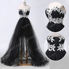 FREE SHIP Vintage High-Low Ball Gown Wedding Bridesmaid Evening Prom Dress PLUS+