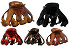 New Octopus Hair Claw Clip Butterfly Bull Dog Design Plastic Fast Shipping