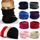 Unisex Polar Fleece Snood Hat Neck Warmer Ski Wear Scarf Beanie Balaclava