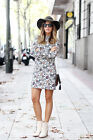 ZARA BLOGGERS FLORAL PRINT DRESS SIZE S,M,L