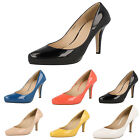 Anne Michelle F9775 Ladies Patent Court Shoes *Available in 3 Colours*