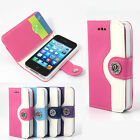 JR Leather Wallet Pouch Flip Case Cover For iPHONE 4S Screen Protector AU4