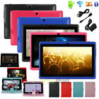 """8GB 7"""" A33 Capacitive Android 4.4 Quad Core Cameras Wifi Tablet PC Bundle Case"""