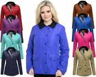 NEW LADIES WOMENS QUILTED PADDED COAT BUTTON ZIP TOP JACKET PLUS SIZES 16 18 20