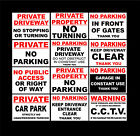 No Parking / Gates / Garage / Car Park & CCTV Sign Or Sticker Choice Of Sizes