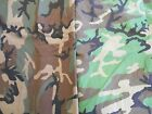 Military & hunters camouflage fabric Woodland poly/cotton & 1x1 rib knit cotton
