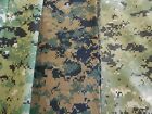Military camouflage fabric green/black digital poly/cotton ripstop nylon spandex