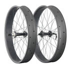ICAN 26er Carbon Wheelset for fat bike 90mm Clincher Tubeless Ready 135/190mm