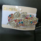 Fashion Lady Girl's Crystal Rhinestone Gold leaf Barrette Hairpin Hair Clip