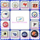 NFL Football Team Floating Charms-Bears-Chargers-Redskins-Patriots-Glass Lockets $1.79 USD on eBay