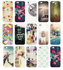 Hot Various Flower Scenery Quote Painted Pattern Back Case Cover for iPhone 5 5S