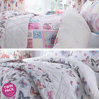 Catherine Lansfield Twin Pack Parisian Butterfly Duvet Quilt Cover Bedding Set