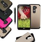 Armor Box Rugged Impact Hard Rubber Cover Case for For LG G2 Optimus D801 D802