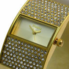 Henley Womens Watch Ladies Diamante Detailed Gold Tone Bangle Bracelet