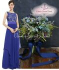 BNWT ALICE Cobalt Blue Lace Chiffon Prom Evening Bridesmaid Dress UK 6 -18