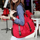 US Large Handbag Women Canvas Messenger Tote Satchel Shoulder Ladies Shopper Bag