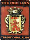 New The Red Lion Traditional Ales Metal Tin Sign