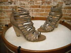 Belle Sigerson Morrison Taupe Brown Leather Annie 3 Caged Sandal NEW