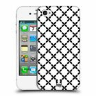 HEAD CASE DESIGNS BNW PATTERNS HARD BACK CASE FOR APPLE iPHONE 4