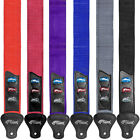 Coloured Guitar Straps with Pick Holders