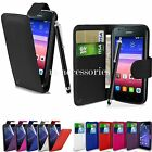 FLIP WALLET CASE POUCH PU LEATHER COVER FOR HUAWEI ASCEND Y550 + SP+ PEN
