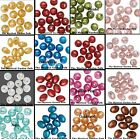 Foil Glistening Resin Beads Ovals Rounds *Pink Brown Gold Clear & more Colors