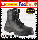 Oliver Work Boots Steel Toe 55245 Black Lace-Up Safety Brand New! *All Sizes