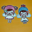1pray Cute Angel Fairy Girl Kawaii Iron on Sew Embroidered Badge Patch Baby Diy