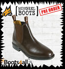 New Mongrel Work Dress Riding Chelsea Boots Brown Leather Australian Made 805070