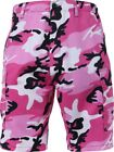 Mens Pink Camouflage Military BDU Cargo Shorts