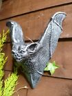 Hand Cast Gothic Bat Wall Hanging Plaque Sconce Garden Ornament
