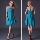 Valentine Sale~Chiffon Mini Sexy Short Bridesmaid Evening Gown Party Prom Dress