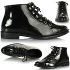 New Ladies Womens Flat Lace Up Casual Low Hi Top Ankle Pixie Boots Shoes Pumps