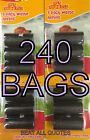 DOG POO BAGS ON A ROLL PET WASTE REFILL POO BAGS KIT REFILLS 60,120,180 240