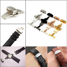 Stainless steel 16/18/20/22mm Butterfly Double Push Fold Watch Band Clasp Buckle