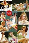 New Coca Cola Ice Cold Vintage Glamour Coke Poster