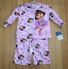 New Girls Nickelodeon DORA The Explorer 2 Pc Pink Flannel Pajamas ~Inf/Tod Szs