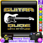 Electric Guitar Dude With Attitude - Sheet Music & Accessories Bag MusicaliTee