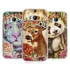 HEAD CASE FLORAL ANIMALS SILICONE GEL CASE FOR HTC ONE M8