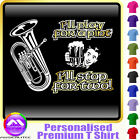 Euphonium Play For A Pint - Personalised Music T Shirt 5yrs - 6XL by MusicaliTee